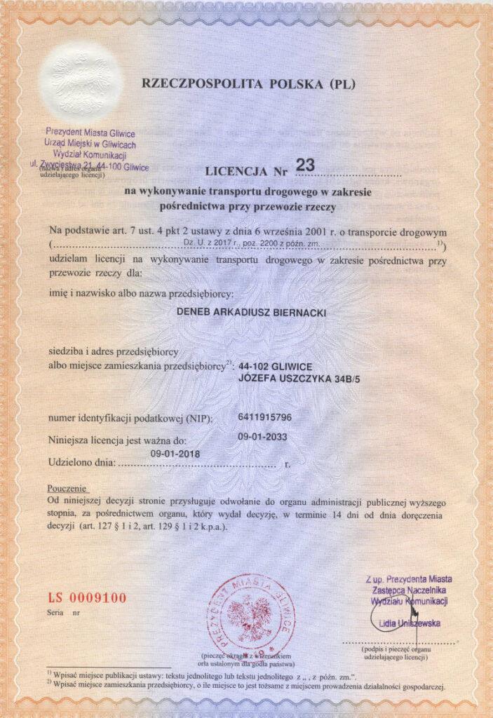 Koncesní listina (PL)